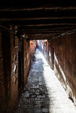 Dark alley in Marrakesh Royalty Free Stock Photo