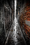 Dark alley in Venice Royalty Free Stock Image
