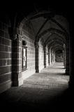 A dark alleyway of a medieval building Stock Photography
