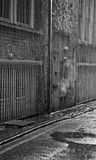 Dark alleyway on a rainy day Stock Image
