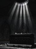 Dark altar with bones Royalty Free Stock Photo