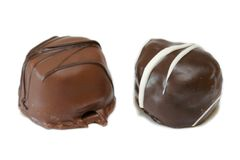 Dark And Milk Chocolate Candies Royalty Free Stock Photography