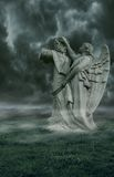 Dark Angel. A premade background for artists and designers to use in their artwork Royalty Free Stock Image