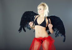 Dark angel Stock Images