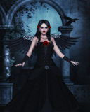 Dark Angel computer graphics Royalty Free Stock Image