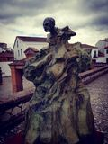 Dark angry. Kulpture in Spain Andalusien royalty free stock photography