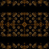 Dark Arabic Ornate Background with Stripes Decorated Borders Royalty Free Stock Photos