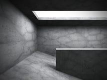 Dark architecture concrete background. Empty room interior. 3d render illustration Royalty Free Stock Image