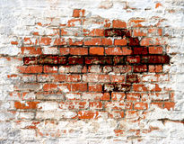 Dark Arrow. Bloody arrow over old brick wall Royalty Free Stock Photography