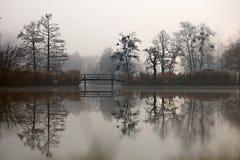 Dark autumn park Stock Images