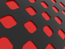 Dark background. Abstract background with red rounded corners diamonds Royalty Free Stock Photos