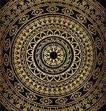 Dark and golden circles Stock Photos