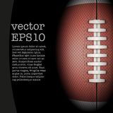 Dark Background of American Football ball. Vector Royalty Free Stock Photos