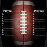 Dark Background of American Football ball. Vector Stock Images
