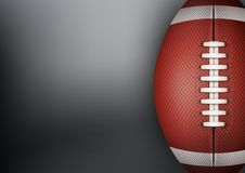 Dark Background of American Football ball. Vector Stock Image
