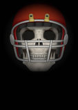 Dark Background of american football. Vector Royalty Free Stock Photos