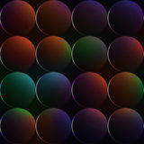 Dark background with balls or circles with rainbow colors Royalty Free Stock Image