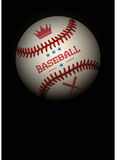 Dark Background of baseball ball. Vector Royalty Free Stock Photography