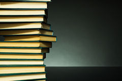 Dark background with books Stock Photography