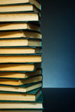 Dark background with books Royalty Free Stock Photo