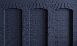 Free Dark Background Brick Arches Loft Wall Royalty Free Stock Photography - 167186197