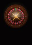 Dark Background of casino roulette. Vector Stock Image