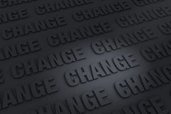 Dark Background of Change. A dark background filled with CHANGE receding into the distance stock illustration