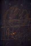 Dark background. Children`s scribble. Street drawings royalty free stock photo