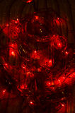 Dark background with Christmas ornaments Royalty Free Stock Images