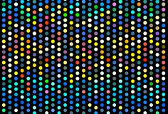 Dark background with colorful balls. Abstract lights garlands, night lamps. Vector illustration stock illustration