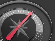 Dark background with compass. Determination of direction - Business concept Royalty Free Stock Photography