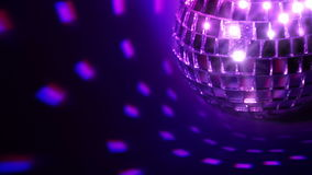 Dark background and disco ball. Seamless loop Royalty Free Stock Photos