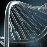 Dark background with DNA. Abstract background with DNA element, dark blue Royalty Free Stock Image