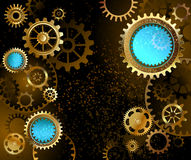 Dark background with gears Royalty Free Stock Images