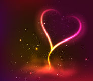 Dark background with glowing heart for my Valentine Valentines day Stock Photos