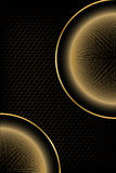 Dark background with golden elements Stock Image