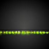 Dark background with green shiny light Royalty Free Stock Photos