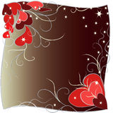 Dark background with hearts. Royalty Free Stock Images