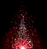 Dark background with hearts Royalty Free Stock Photo