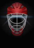 Dark Background of hockey helmet. Vector Illustration. Stock Image
