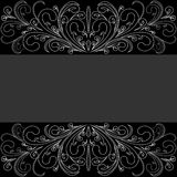 Dark Background with lacy Border Stock Photography