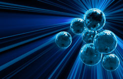 Dark background with mirror disco balls Stock Image