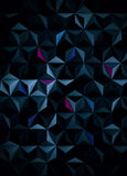 Dark Background with Multicolored Design Elements - 3D Illustration Royalty Free Stock Photography