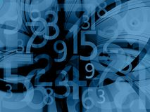 Dark background with numbers. Dark blue background with random numbers Stock Illustration