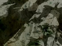 Dark background. Old grunge background with paint splats stock illustration
