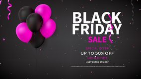 Web banner template for Black Friday sale Royalty Free Stock Image