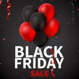 Black Friday sale background template Royalty Free Stock Images
