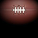 Dark Background of rugby ball. Vector Illustration Royalty Free Stock Photography