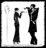 Image of smoking couple Royalty Free Stock Image