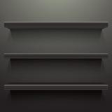 Dark background shelves Stock Image
